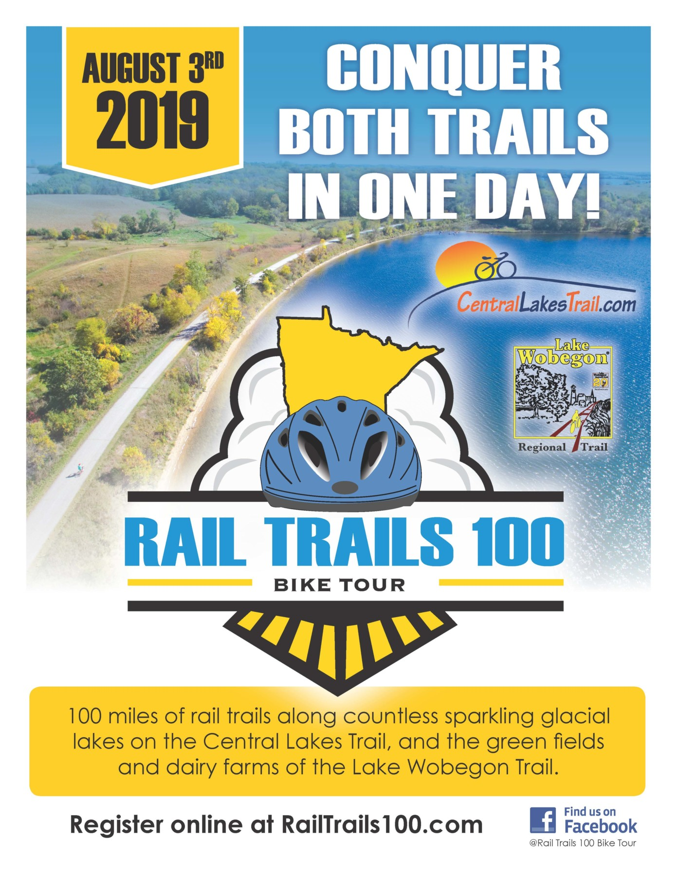 Rail Trails 100 2019 Flyer